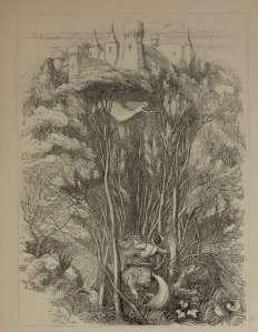 princ z vilino pomocjo napreduje proti gradu