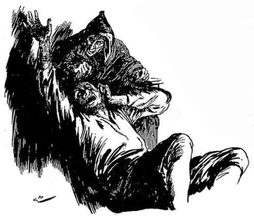 ilustracija-gordona-browneja-hudic-in-trije-zlati-lasje