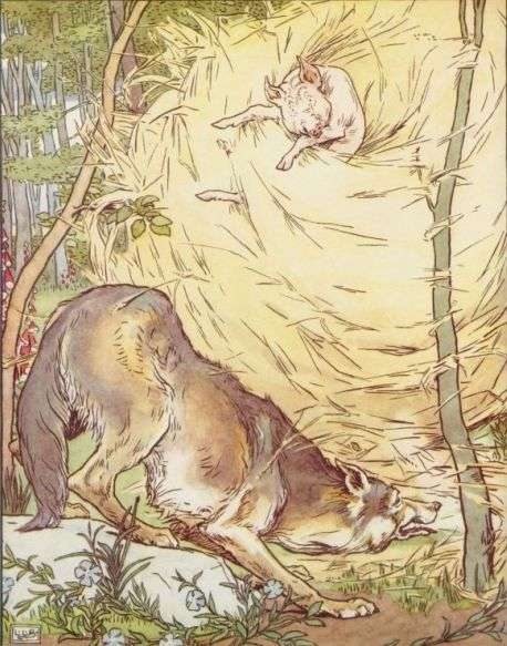 trije-prasicki-volk-odpihne-slamnato-hiso