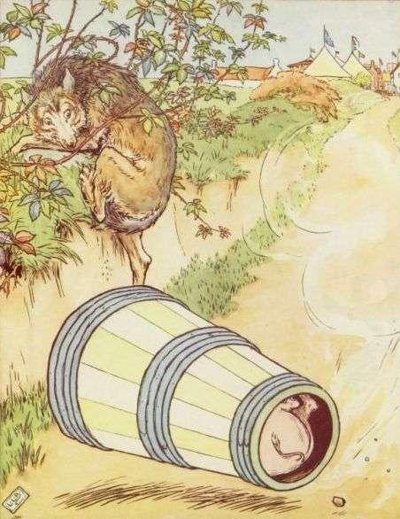 trije-prasicki-volk-se-ustrasi-pujska-v-piniji