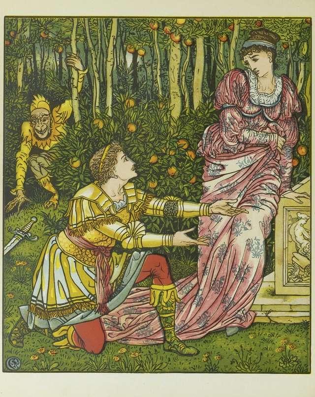 kralj-in-princesa-v-ozadju-rumeni-skrat